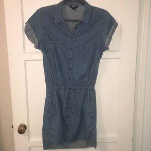 Paige denim dress w/ drawstring waist